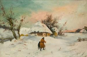 Jan Kazimierz Olpiński (1875 Lwów - 1936 tamże), Zima