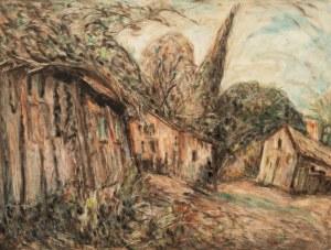 Henryk Lewensztadt (1893-1962), Motyw z przedmieścia, lata 40. XX w.
