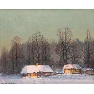 Wiktor Korecki (1890 Kamieniec Podolski - 1980 Milanówek k. Warszawy), Chaty w zimowym pejzażu