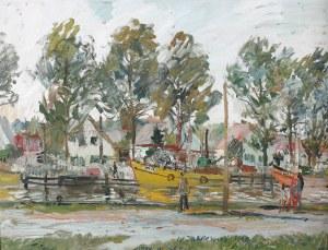 Włodzimierz Zakrzewski (1916 Petersburg - 1992 Warszawa), Kutry w Łebie, 1960 r.