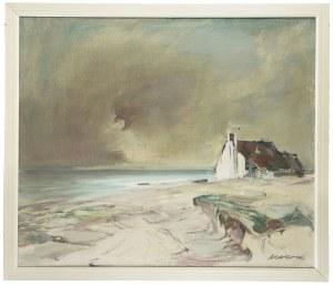 Marian Mokwa (1889 Malary - 1987 Sopot), Rewa w Zatoce Gdańskiej, ok. 1960 r.