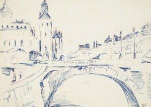 Józef Wasiołek (1921 Smarglin - 2008 Łódź), Paryż nad Sekwaną, lata 70. XX w.