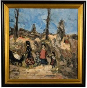 Alfred Aberdam (1894 Lwów – 1963 Paryż), Matka z dziećmi na spacerze