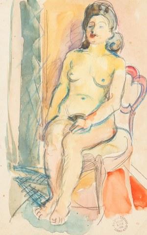 Ludwik Klimek (1912 Skoczów - 1992 Nicea), Akt siedzący
