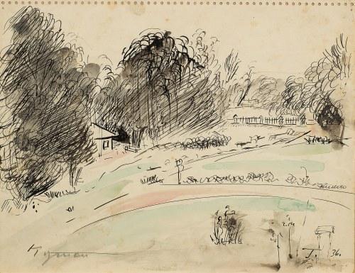 Tymon Niesiołowski (1882 Lwów-1965 Toruń), Pejzaż, 1936 r.