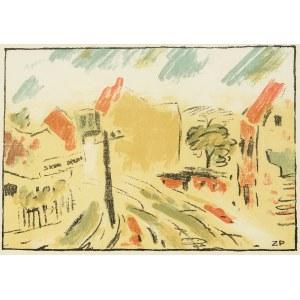 Zbigniew Pronaszko (1885 Debreczyn - 1958 Kraków), Ulica w Suchej z teki Czartak. Zbór poetów w Beskidzie. Poezje i proza, 1928 r.