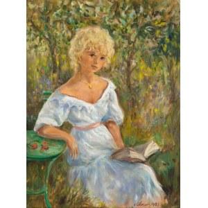 Katarzyna Librowicz (1912 Warszawa - 1991 Paryż), Czytająca książkę, 1983 r.