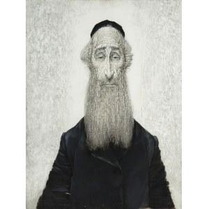 Maciej Lachur (1927 Zagórze – 2007 Otwock), Portret rabina, 1972 r.