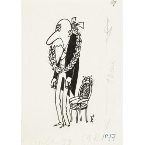 Jerzy Flisak (1930 Warszawa - 2008 tamże), Wieniec laurowy - ilustracja do Szpilek 33