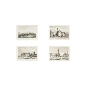 Cztery widoki Krakowa: Wawel, Katedra, Brama Floriańska, Ratusz