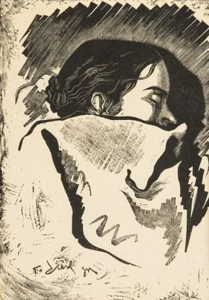 Tadeusz (syn) Cieślewski (1895-1944), Śpiąca (żona artysty), 1935 r.