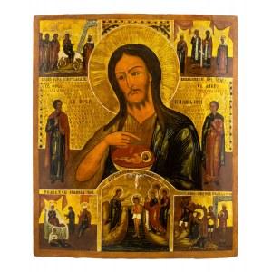 Ikona - Św. Jan Chrzciciel, Rosja, XIX / XX w.