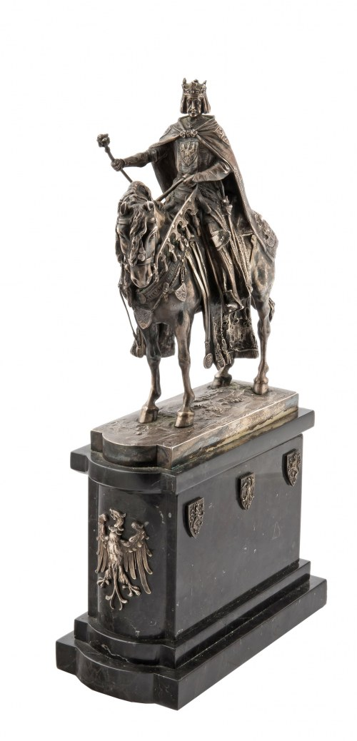 Figura króla Bolesława Chrobrego (?) na koniu, Austro-Wegry, Wiedeń, I poł. XX w.