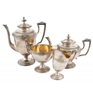 Garnitur do kawy i herbaty w stylu empire, Szwajcaria, pocz. XX w.