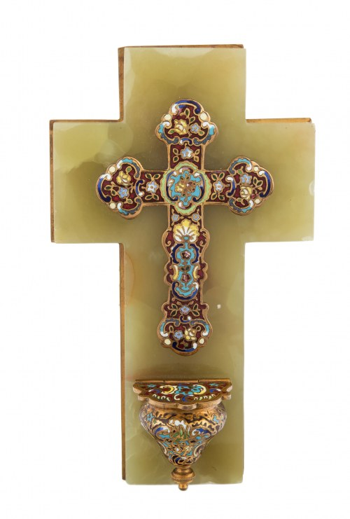 Krzyż - kropielnica, k. XIX w.