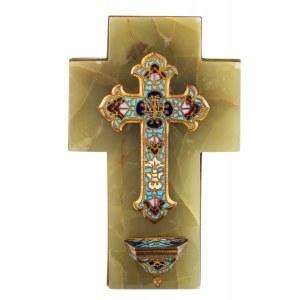 Krzyż - kropielnica, k.XIX w.