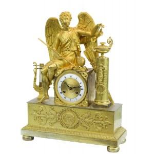 Zegar empirowy z Erosem, Francja, I poł. XIX w.