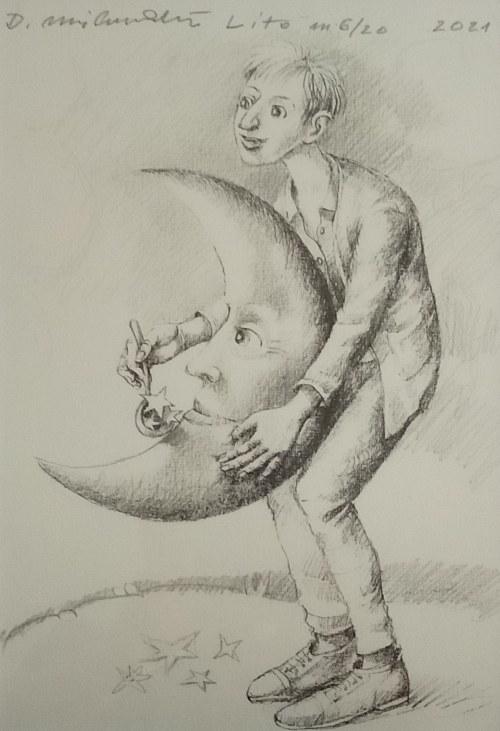 Dariusz Miliński (ur. 1957), Księżyc, 2021