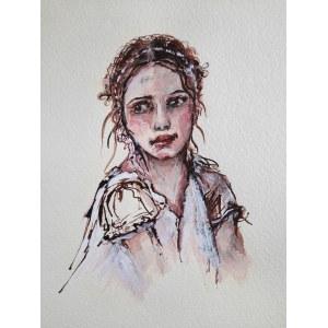 Karina Góra (ur. 1973), Zamyślona dziewczynka, 2020