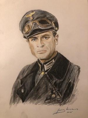 Janusz Kulikowski, XX / XXI w., Portret Hansa Klossa, 2019