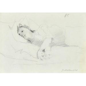 Jacek MALCZEWSKI (1854-1929), Szkic leżącej kobiety, 1887
