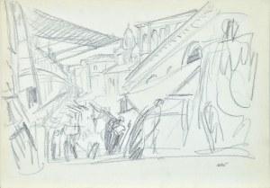 Wojciech WEISS (1875-1950), Przy moście Rialto w Wenecji