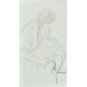 Leopold GOTTLIEB (1883-1934), Kobieta z niemowlęciem, 1920
