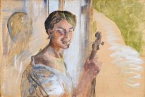 Jacek MALCZEWSKI (1854-1929), Portret dziewczyny z wiolonczelą, 1911
