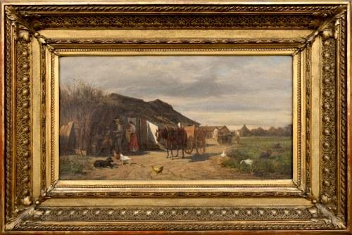 Ludwik GĘDŁEK (1847-1904), Scena rodzajowa, 1877