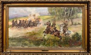 Jerzy KOSSAK (1886-1955), Artyleria jedzie, 1926