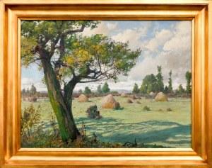 Michał Gorstkin WYWIÓRSKI (1861-1926), Pejzaż - koniec lata, 1916