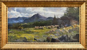 Michał STAŃKO (1901-1969), Owce na hali