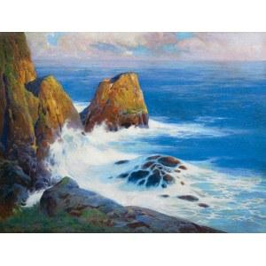 Tadeusz POPIEL (1863-1913), Skaliste wybrzeże Capri