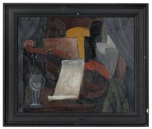 Alicja HALICKA (1889-1974), Martwa natura ze skrzypcami kubistyczna