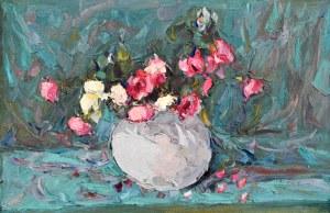 Włodzimierz TERLIKOWSKI (1873-1951), Kwiaty w kulistym wazonie, 1923