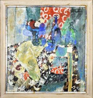 Juliusz JONIAK (1925-2021), Martwa natura z żółtą draperią, 1996