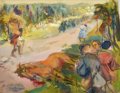 Kasper POCHWALSKI (1899-1971), Po drodze - wrzesień 1939 z cyklu Exodus, 1964