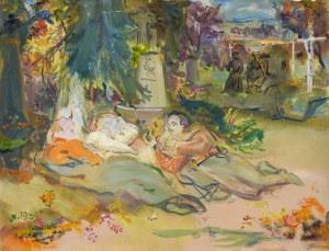 Kasper POCHWALSKI (1899-1971), Odpoczynek - wrzesień 1939 z cyklu Exodus, 1964