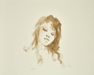 Leonor FINI (1907-1996), Popiersie dziewczyny z zamkniętymi oczami