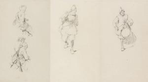Józef BRANDT (1841-1915), Studia postaci do kompozycji historycznych