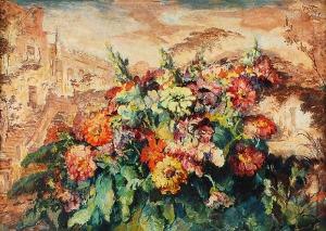 Teodor GROTT (1884-1972), Kwiaty, 1946