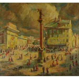 Karol CHARLEÉ KOWALSKI (1910-1968), Kolumna Zygmunta, 1947