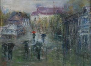 Tadeusz ROMAN (1906-1983), Deszczowy dzień w Kazimierzu
