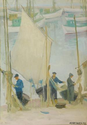 Alfred TERLECKI (1883-1973), Rybacy, 1937