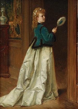 Władysław BAKAŁOWICZ (1833-1903), Kobieta z wachlarzem