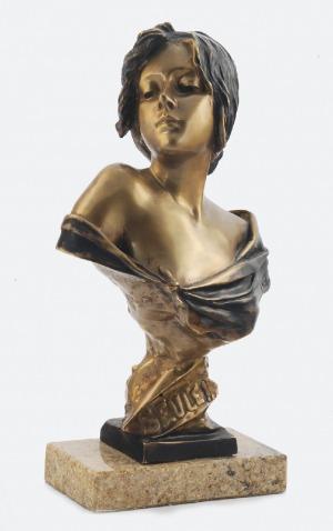 """Emmanuel VILLANIS (1858-1914), """"Seule!"""" - popiersie kobiece"""
