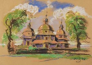 Wiktor ZIN (1925-2007), Kościół, 1988