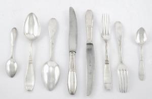 Wytwórnia sreber Piotra Łątkowskiego (czynna , Komplet sztućców na 6 osób