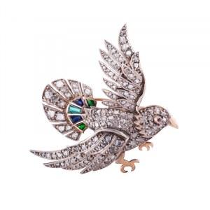 Brosza w formie ptaka