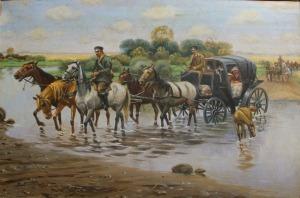 Zygmunt Kaczówka (1915-1996), Przeprawa powozem przez rzekę